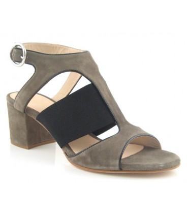 Sandalia de tacón con elástico
