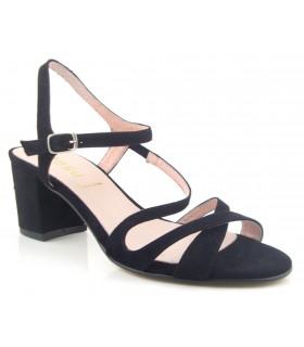 Sandalia de ante negro para vestir