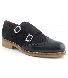Zapato pala vega con dos hebillas