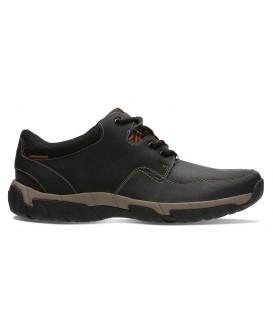 Zapato negro con cordones